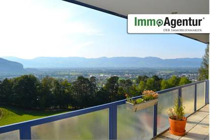 2,5 Zimmerwohnung mit wundervollem Blick über das Rheintal und die schweizer Berge.