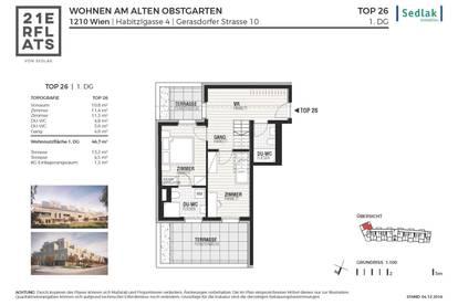 Fertigstellung Juni 2020! T26_4- Zimmer DG Maisonette mit 4 Terrassen PROVISIONSFREI