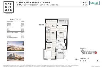 Fertigstellung Juni 2020! T32_3 Zimmer DG Wohnung mit Dachterrasse