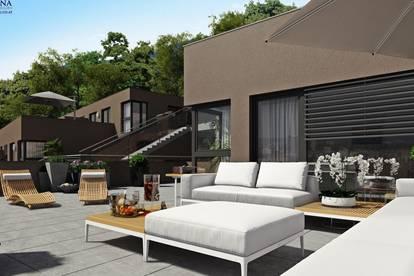 Weitblick von Alt-Eggenberg über die Dächer der Stadt - Modernste Bauweise mit großzügigen Freiflächen vereinen hier Lebensqualität und Design!