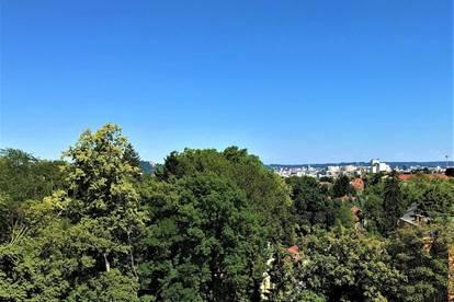Der wohl aufsehenerregendste Ausblick auf Schlossberg und über die Dächer von Graz - Tollste Architektur, saftigstes Grün und höchste Qualität rund um Ihre neue Dachgeschoßwohnung!