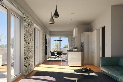4 ZIMMER PENTHOUSE mit 126 m² DACHTERRASSE in RUHELAGE um nur € 359.000,-