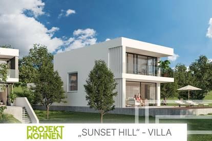 SUNSET HILL / Architekten Villa in Grazer Spitzenlage / Terrasse mit idyllischem Eigengarten