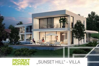 Architekten Villa in Grazer Ruhelage / SUNSET HILL / Terrasse mit traumhaftem Eigengarten / Ab Sommer 2022 verfügbar