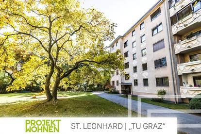 Gepflegte Wohnung in zentraler Lage neben der TU-Graz / Absolut ruhig und hell