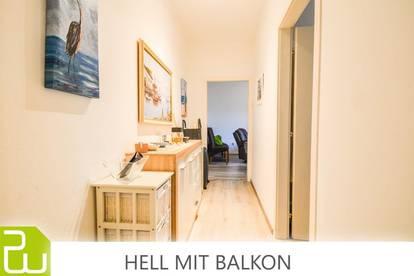 *PROV, FREI*!!* TOP-SANIERT - BALKON, PÄRCHEN-WHG, BADEWANNE, SEHR HELL UND RUHIG, AB 01.06.!