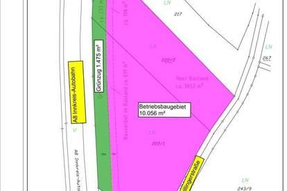 Betriebsbaugebiet in Wels-Wimpassing, direkt an der A8, sofort verfügbar