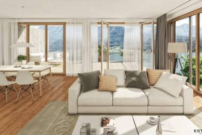 Ideales Ferienapartment mit Seeblick und eigenem Badesteg vor dem Haus - 2 Zimmer Wohnung