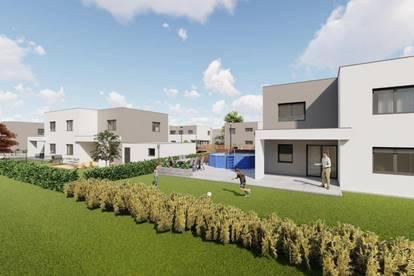 Moderne Doppelhäuser in sonniger Siedlungslage