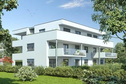 23m²-Westbalkon in kleinem ruhigen Projekt