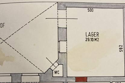 30m2 Lagerraum / ebenerdig - Raumhöhe über 4,50m