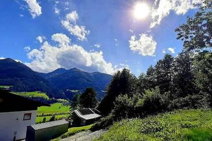 Schönes Baugrundstück mit Panoramablick auf die Berge
