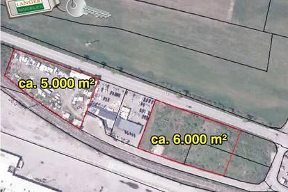 Ca. 5.000 m² und 6.000 m² Betriebsgrundstücke um € 115,-- pro m²!!!