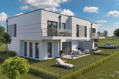 Am Stadtrand von Wien: Doppelhaus mit Terrasse, Garten und Stellplätzen (Fertigstellung Oktober 2020)