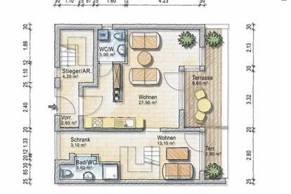 Fünfzimmer Maisonette mit Dachterrasse - provisionsfrei und generalsaniert