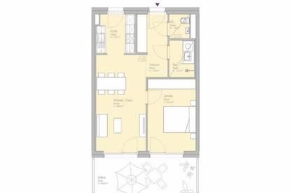 2-Zimmer-Erstbezugswohnung in der Smart City Graz