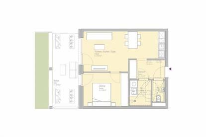 LEBE SMART - MIETE PROVISIONSFREI - 2-Zimmer-Erstbezugswohnung