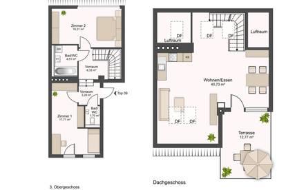 ANLEGER - 3 Zimmer Penthouse-Maisonette - Förderdarlehen Land Steiermark - Provisionsfrei