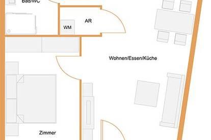 ANNA Maria - 2 Zimmer mit Balkon Richtung Innenhof - PROVISIONSFREI
