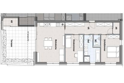 Terrassenwohnung mit Gästezimmer TOP 11 / 2.OG - provisionsfrei