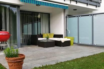 Geräumige, moderne 3-Zimmer-Erdgeschoss-Wohnung ca. 91m² mit großzügiger Loggia und Terrasse, mit direktem Gartenzugang in Vorchdorf