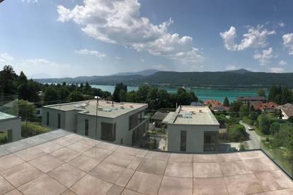 """Velden am Wörthersee: AUEN VILLEN - TOP 7: What a view!! - """"Luxus-Penthouse mit ca. 94 m² WNF + ca. 30 m² Terrasse mit Seeblick, Anteil am Seegrundstück im Miteigentum, 2 TG und Pool"""""""