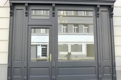 Videobesichtigung - Neu saniertes Geschäftslokal mit schöner Strassenfront - 46qm - Nähe Augarten