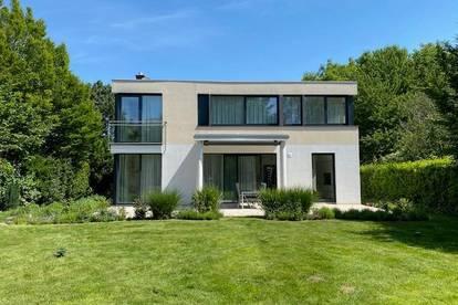 modernes, teil/vollmöbliertes EF-Haus mit gr. Garten und Weitblick in ruhiger Lage in Wien/Oberlaa