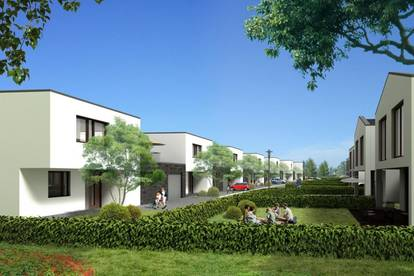 Wunderschöne 4-Zimmer Doppelhaushälfte mit Garten, Nähe Bisamberg