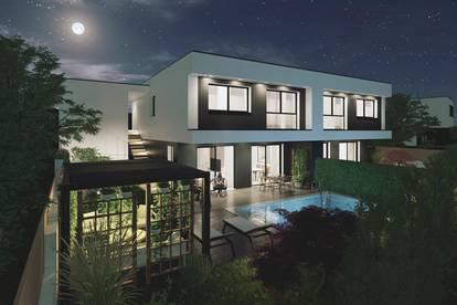 CITYNAH - exklusive Doppelhaushälfte mit Pool im Städtedreieck Linz-Wels-Steyr