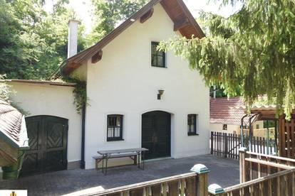 Wunderschönes, exklusives Kellergebäude mit angrenzenden Bauwerken in traumhafter Ruhe- und Alleinlage, in Sitzendorf an der Schmida - Nähe Hollabrunn!