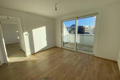 Erstbezug: Dachgeschoßwohnung mit 2 Terrassen und optionaler 30 m2 Dachterrasse
