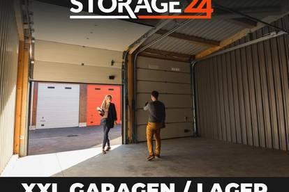 Storage24 vermietet XXL-Garagen als Lagerfläche in verschiedenen Größen