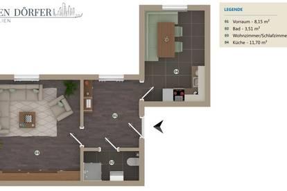 2-Zimmer! Großzügige, helle und sanierte Wohnung!Single-PärchenHIT! Neue Küche,Gemeinschaftsgarten!