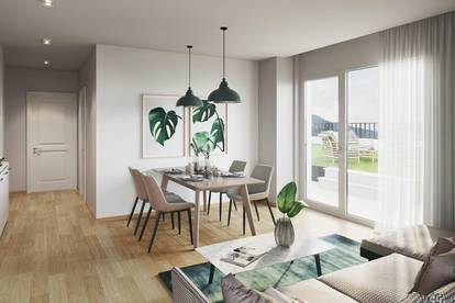 3-Zimmer - 63m² - Terrasse und Garten - hervorragende Lage
