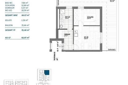 Neubau(t)raum mit 35m² Balkon! 2-Zimmer! Graz-Gösting! 2. OG! Stadt.Land.Thal