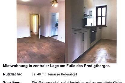 40m³ Wohnung mit Terrasse, Küche und kompletter Einrichtung