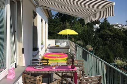 Provisionsfrei: Sonnendurchflutete, absolut ruhige Wohnung mit uneinsehbarer 30 m2 Terrasse mitten im Grünen und doch zentral!