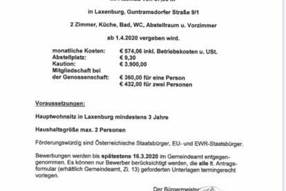 Genossenschaftswohnung in Laxenburg zu vergeben