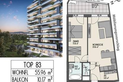 Grünes Juwel - Biotop City - Erstbezug - 2 Zimmer, Sauna, Pool mit Panoramablick - Hochh(in)aus - Wienerberg - Provisionsfrei Privat