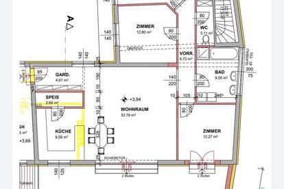 4 Zimmer Wohnung 113m2+50m2 Terrasse
