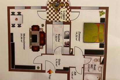 Ein Zimmer in 2er WG 21 qm