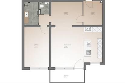 Erstklassige 73 m2 Wohnung zu vermieten