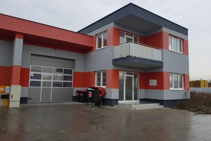 150 m2 Bürofläche plus 205 m2 Lagerhalle
