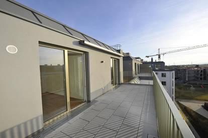 Erstbezug - 3 Zimmer-Dachgeschoßwohnung mit Terrasse; Wohnen im Erholungsgebiet mit direkter U1 Anbindung