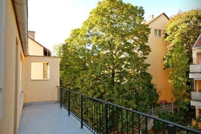 Helle Atelierwohnung mit großen Terrassen in Grünruhelage in 1180, Gersthofer Straße