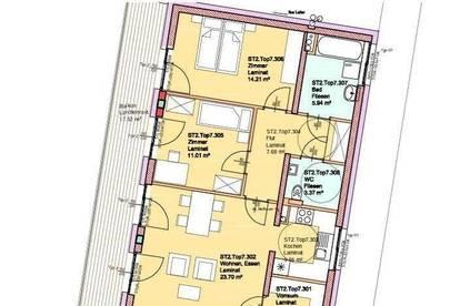 3-Zimmerwohnung mit 17m2  Terrasse
