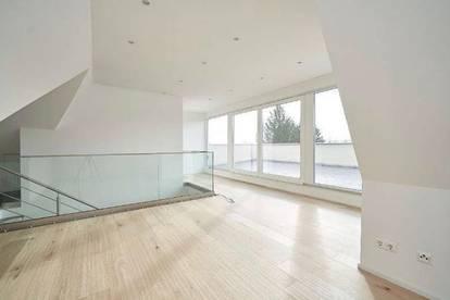 Provisionsfrei: Großzügige Dachgeschoßwohnung auf 2 Etagen mit herrlichem Ausblick in zentraler Grünruhelage