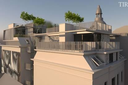 High-Class-Dachgeschosswohnung mit traumhaften Terrassen im 7. Bezirk