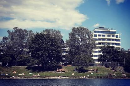 Luxus pur direkt an der Alten Donau mit uneinsehbarer Terrasse!